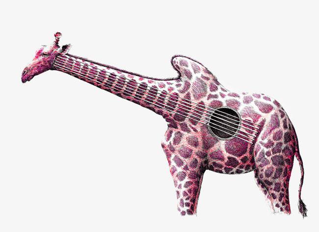 guitar looks like giraffe kids lessons